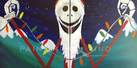 """Couple's Painting & Vino Event: """"Sandy Claws"""" tickets"""