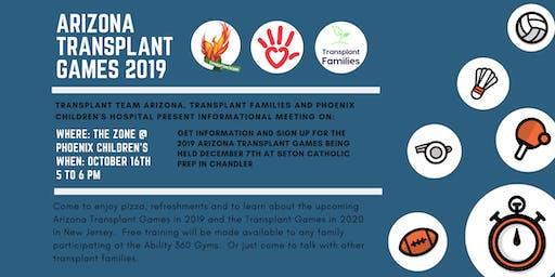 Arizona Transplant Games Information Meeting