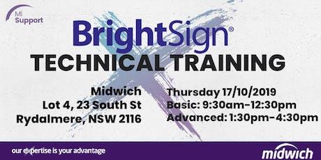 BrightSign Technical Training - SYDNEY Thurs 17 Oct 2019 tickets
