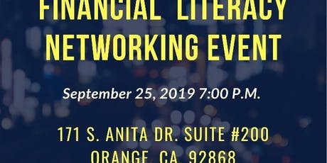 September 2019 Financial Literacy Networking event tickets