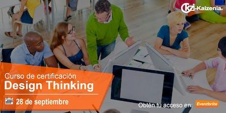 Taller de certificación en Innovación y Design Thinking boletos