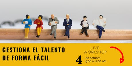 LIVE WORKSHOP: Gestiona el talento humano de forma fácil boletos