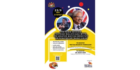 Teh Tarik Session - YB Senator Waytha Moorthy &  YB Senator Dr. Radzi Jidin tickets