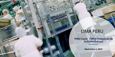 PERU Curso   FSPCA Evaluación de la Vulnerabilidad