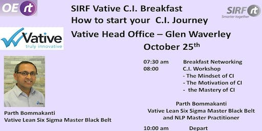 SIRF - Vative OERt Breakfast - How to Start your Continuous Improvement Journey