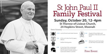St John Paul II Family Festival tickets