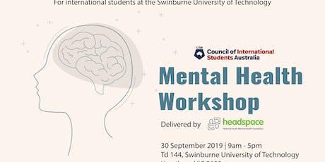 Mental Health Workshop - Victoria tickets