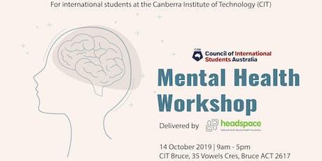 Mental Health Workshop - ACT tickets