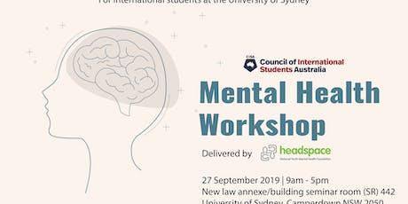 Mental Health Workshop - NSW tickets