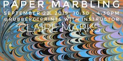 Paper Marbling: Make beautiful decorative marbled paper!