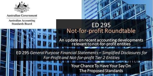 AASB ED 295 & ED 297: Not-for-profit Roundtable, Brisbane