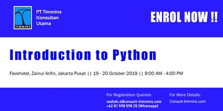 Introduction to Python in Jakarta October 2019 tickets