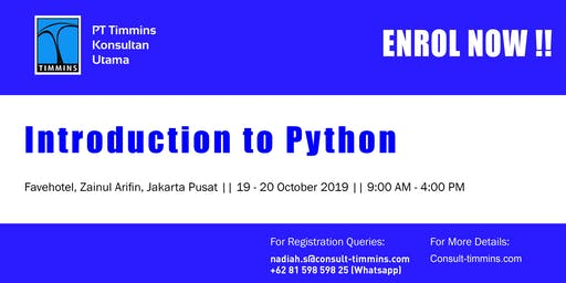 Introduction to Python in Jakarta October 2019