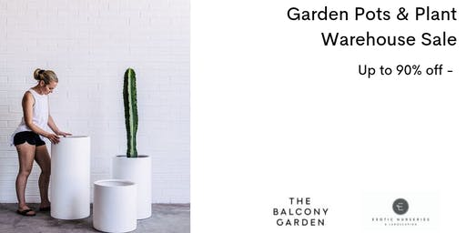 Garden Pots & Plant Warehouse Sale