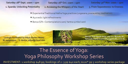 Essence of Yoga: Yoga Philosophy Workshop Series