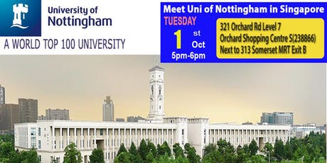 Meet World Top 100 - Uni of Nottingham in Singapore tickets
