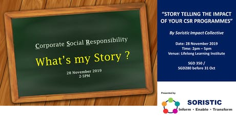 Storytelling the impact of your CSR programmes tickets