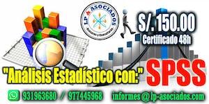 Análisis de datos Estadístico con SPSS (S/.150.00)