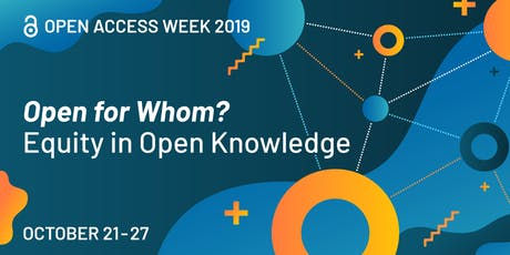 Finding and using Open Access media (Open Access Week) tickets