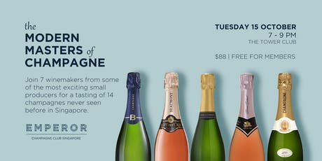 The Modern Masters of Champagne tickets