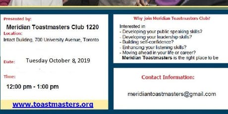 Meridian Toastmasters - Open House tickets