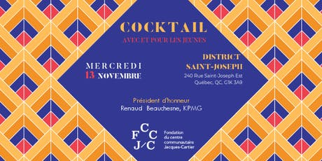 Cocktail dînatoire au profit de la Fondation du Centre Jacques-Cartier billets