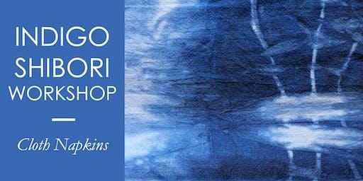 Indigo Shibori | Dye Cloth Napkins + BYO Item