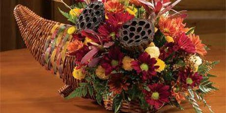 DIY Fall flower arrangement in the basket tickets