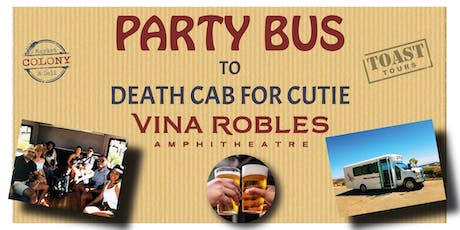 Party Bus to Vina Robles Concerts - Death Cab for Cutie tickets