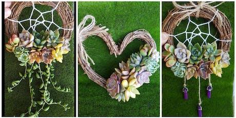 Mini Succulent Dreamcatcher and Heart Wreath Workshop tickets