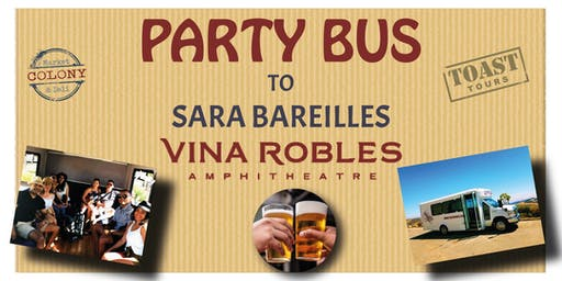 Party Bus to Vina Robles Concerts - Sara Bareilles