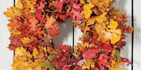 DIY Fall leaves wreath tickets