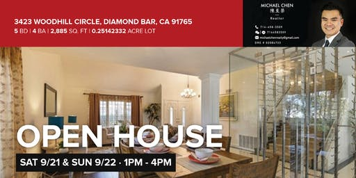Open House - Diamond Bar, CA   Sept 21-22