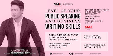 Level Up Your Public Speaking & Business Writing Skills with Jonathan Yabut tickets