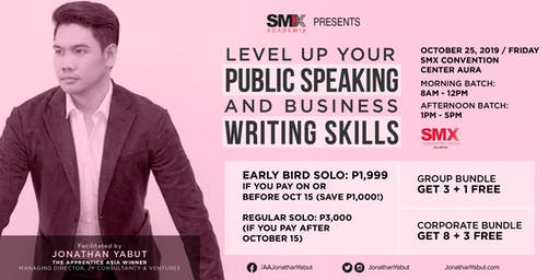 Level Up Your Public Speaking & Business Writing Skills with Jonathan Yabut