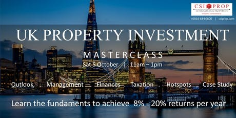 UK PROPERTY INVESTMENT MASTERCLASS tickets