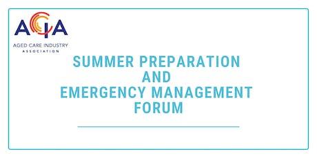 Summer Preparation and Emergency Management Forum tickets