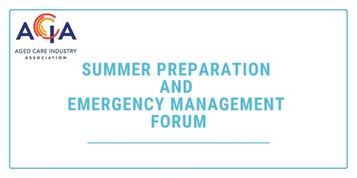 Summer Preparation and Emergency Management Forum