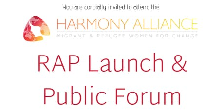 Harmony Alliance RAP Launch and Public Forum tickets