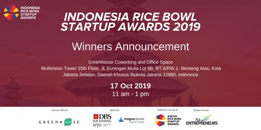 Indonesia Rice Bowl Startup Awards 2019 - Winner Announcment
