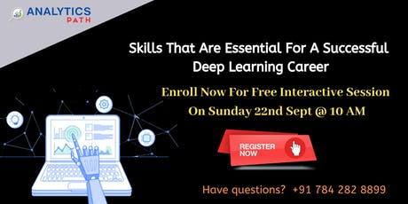 Register For  Deep Learning Free Workshop On Sunday, 22nd Sep 10 am tickets