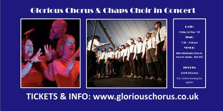 Glorious Chorus & Chaps choir in concert tickets