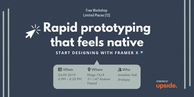 Rapid Prototyping that feels native: Start designing with Framer X
