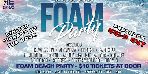 FOAM PARTY - 9.21.19 - LITZS BAR