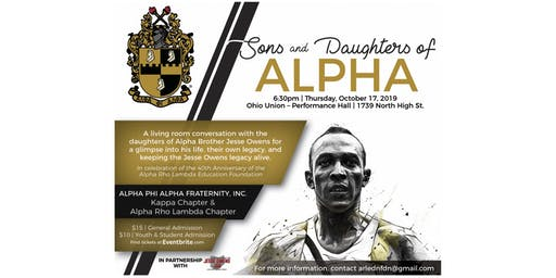 Sons and Daughters of Alpha - Evening with Jesse Owens Daughters