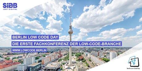 IT-Projekte günstiger und schneller realisieren BERLIN LOW CODE DAY Tickets