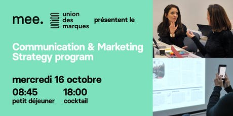 Communication & Marketing Strategy program - Réunion d'information tickets