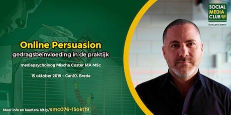 #smc076 15 oktober: Online Persuasion - gedragsbeïnvloeding in de praktijk tickets