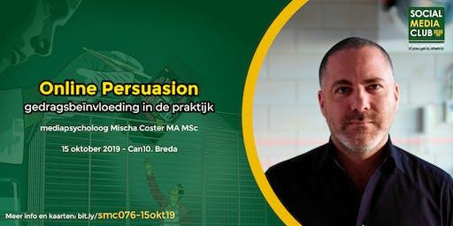 #smc076 15 oktober: Online Persuasion - gedragsbeïnvloeding in de praktijk