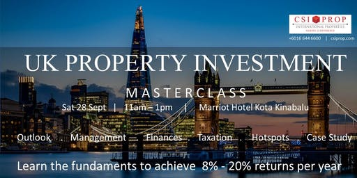 UK PROPERTY INVESTMENT MASTERCLASS